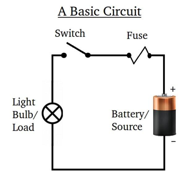 el_circuit basic_circuit_diagram next comes controlling loads of the circuit